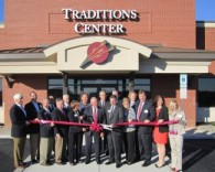 traditions center ribbon cutting