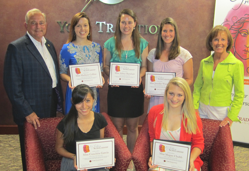 Her Traditions Scholarship winners 2014