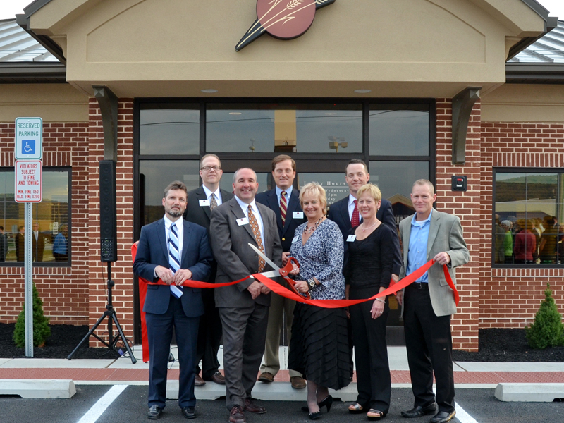 Hanover branch ribbon cutting