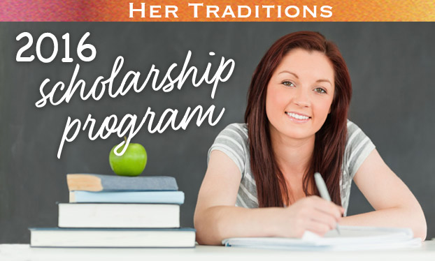 2016 Her Traditions Scholarship header