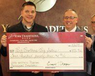 York Traditions Bank donation to Big Brothers Big Sisters