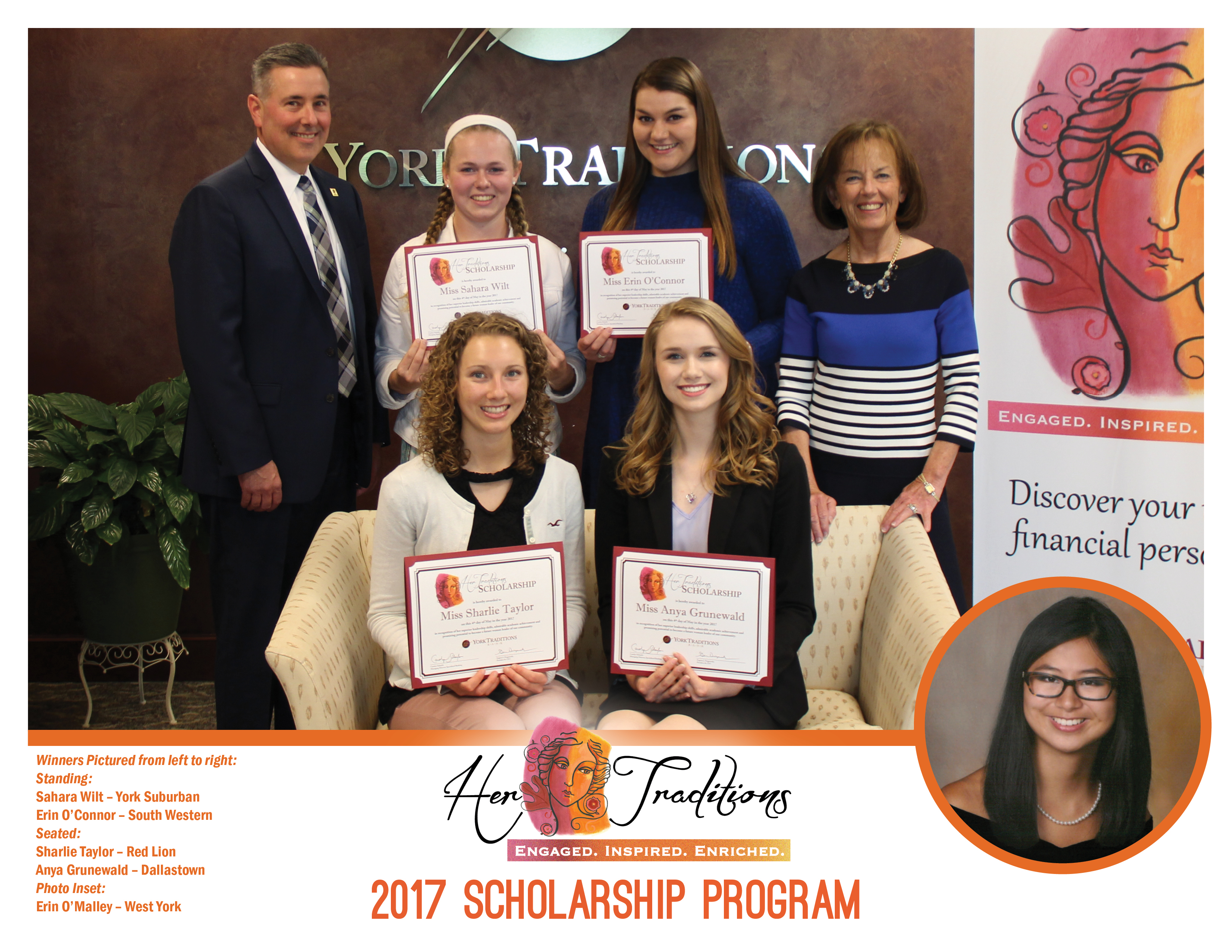 2017 Her Traditions Scholarship Winners