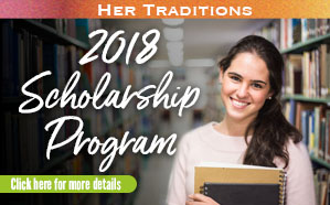 2018 Her Traditions Scholarship Widget