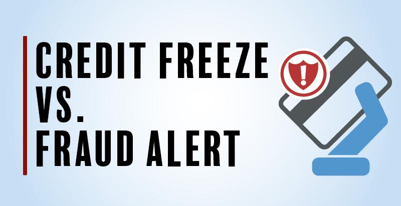 Graphic Image: Credit Freeze vs. Fraud Alert Blog Header
