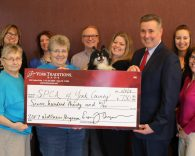 Wellness Donation Check to SPCA
