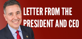 Header for Letter From the President and CEO
