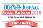 "Logo for Central Penn Business Journal Reader ranking 2018 ""Best Bank for Business"""