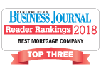 "Logo for Central Penn Business Journal Reader ranking 2018 ""Best Mortgage Company"""