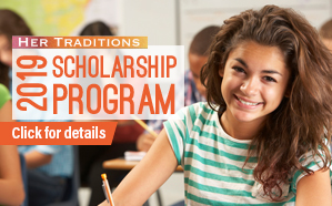 Information on the 2019 Her Traditions Scholarship Application