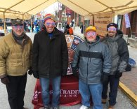 Photo of Michael Hady, John Blecher, Rich Lowry and Mark Poliski, representing York Traditions Bank at FestivICE