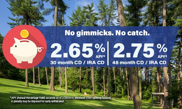 CD rate Slider 30 month/48 month as of 2202019
