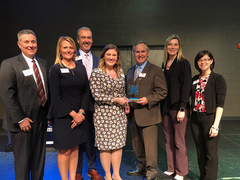 York Traditions Bank receiving 2019 Downtown First Award