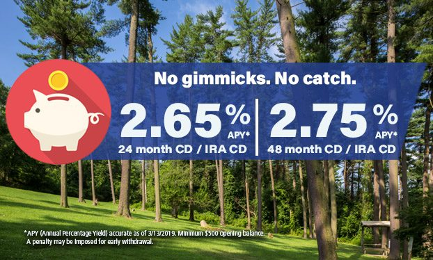 CD rate Slider 24 month/48 month as of 3132019