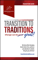 Photo of the cover of the Transition Guide brochure. These are available in our branches
