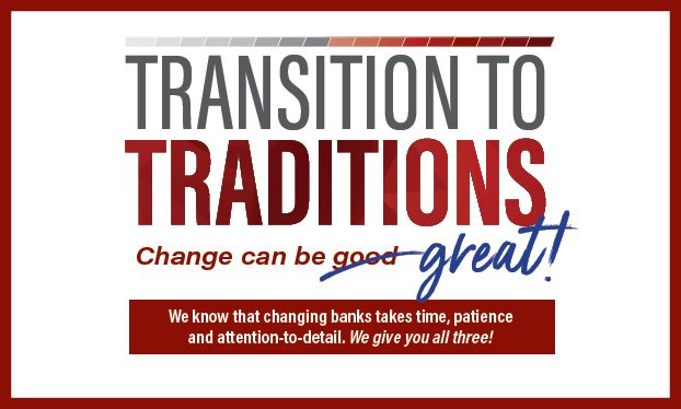 Transition to Traditions Slider - Change can be great
