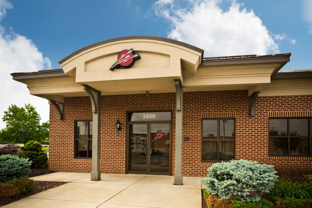 image of the entryway of a Traditions Bank Branch location