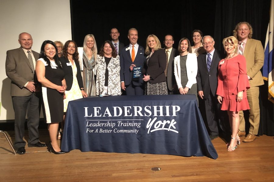 Photo of YTB team accepting the 2019 Leadership York Outstanding Business of the Year