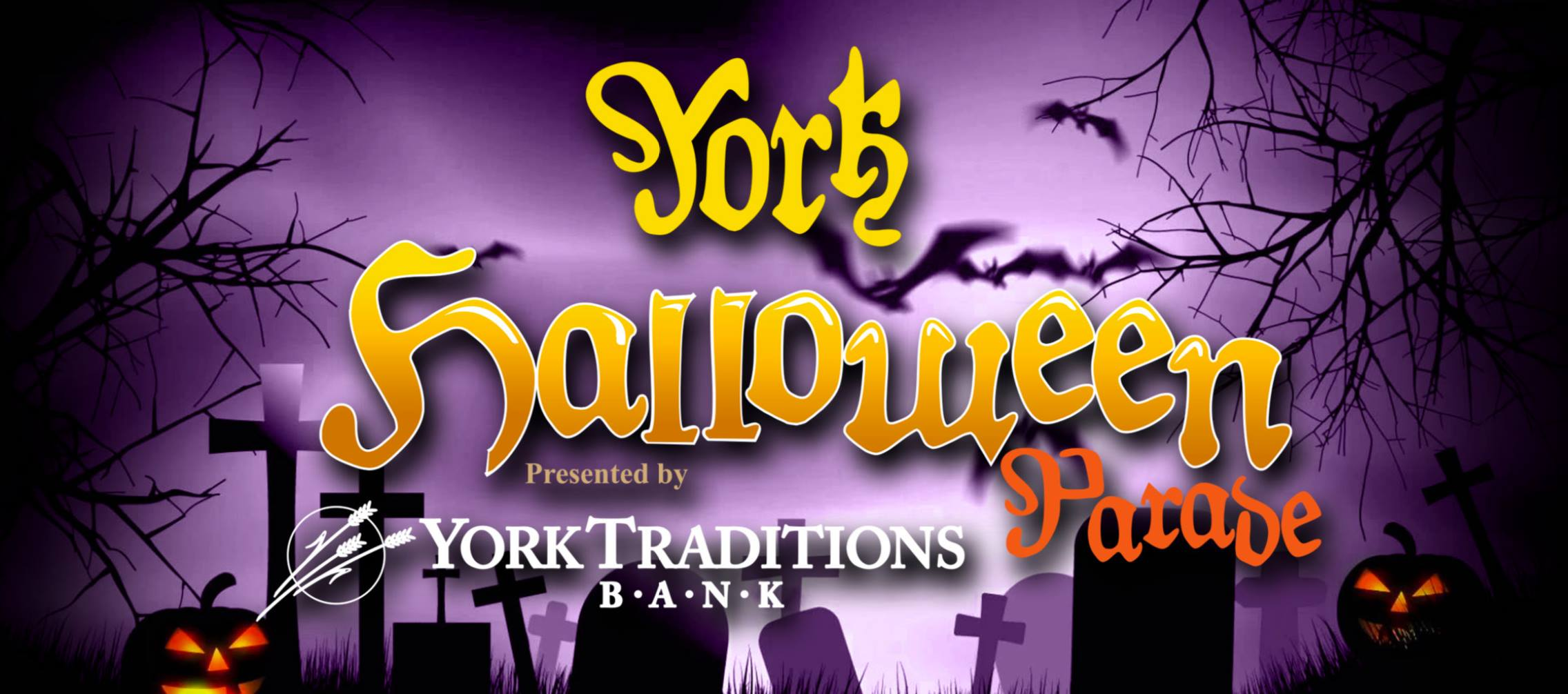Logo for the York Halloween Parade