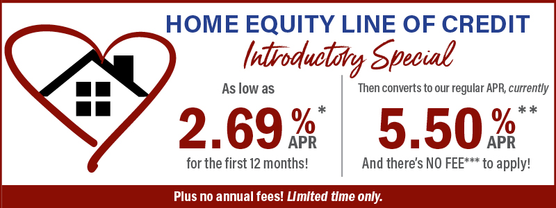 HELOC Special 2.69% APR 12 months