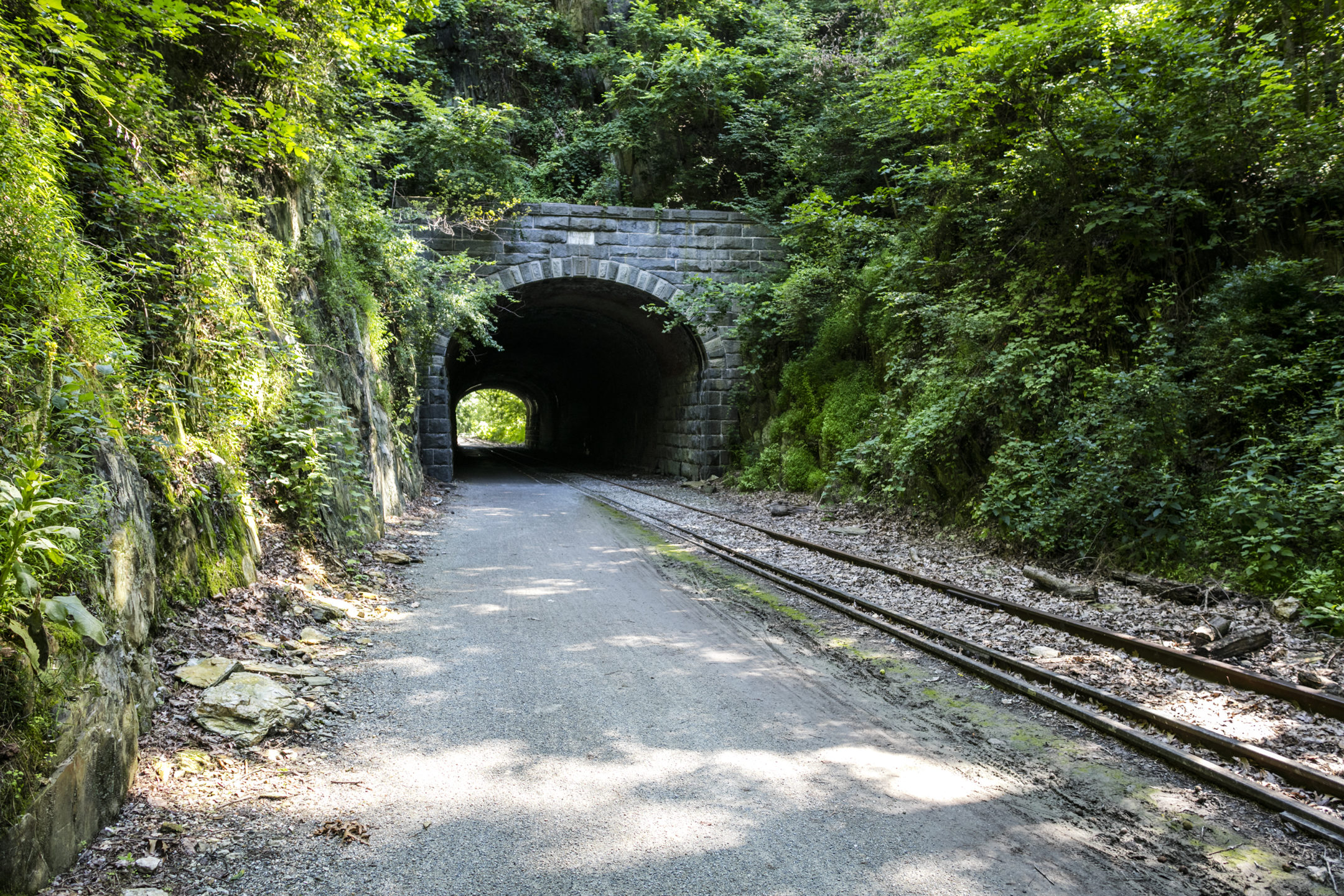 the Howard tunnel entrance surrounded by greenery