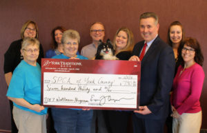 Photo of check presentation to the York County SPCA