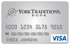 york traditions bank visa credit card
