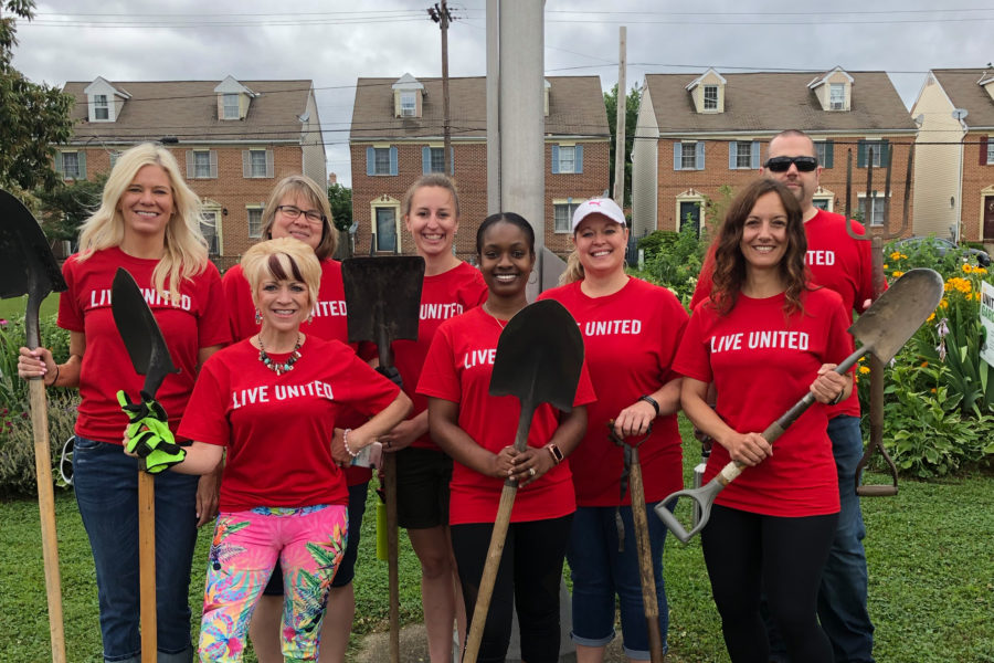 Photo of YTB associates during United Way Day of Action
