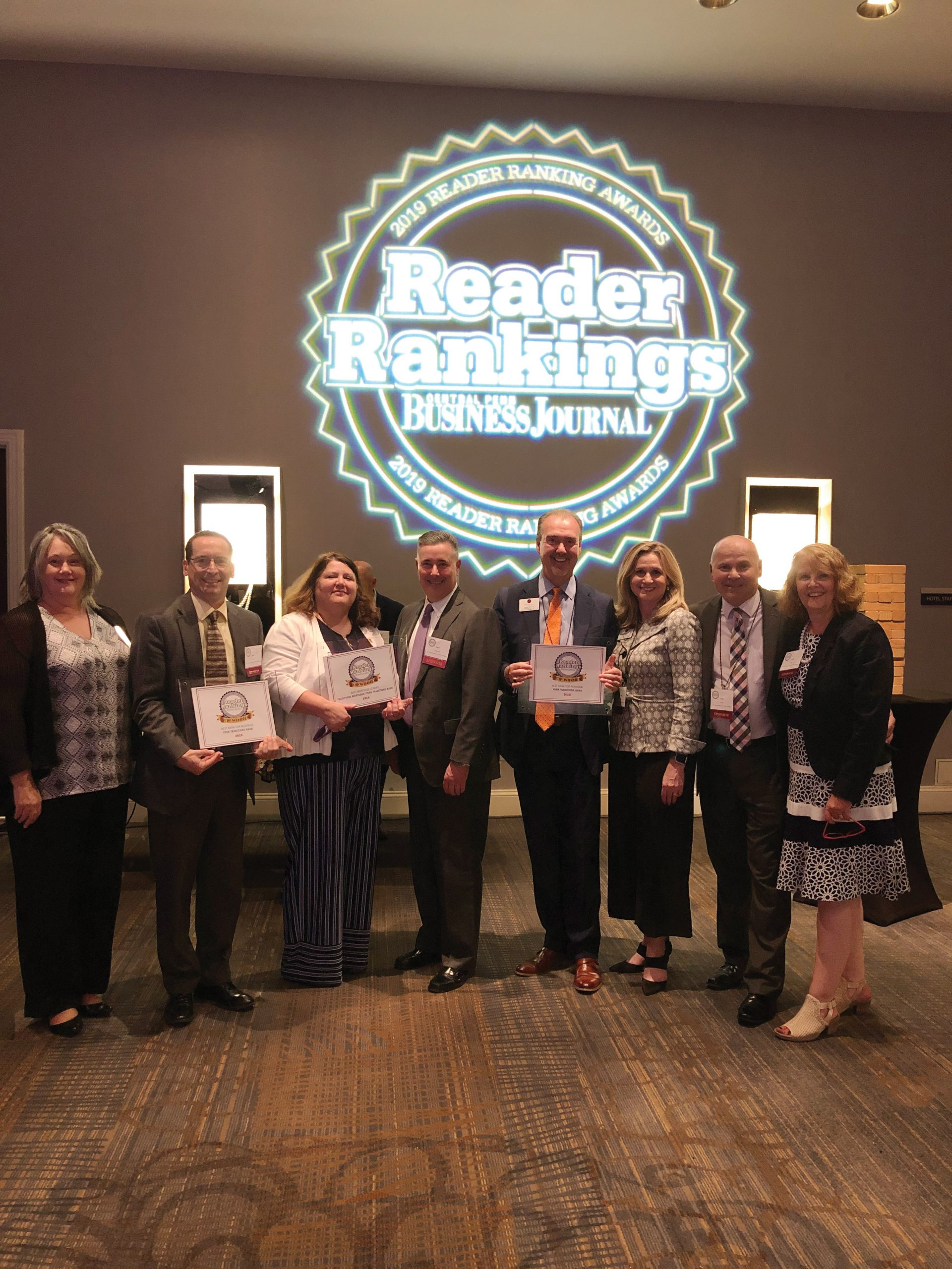 Photo of YTB Associates receiving Central Penn Business Journal Awards
