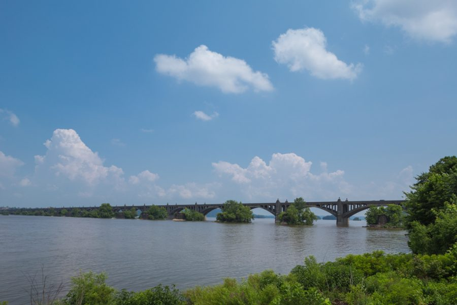 Original bridge over Susquehanna River connecting York and Lancaster Counties
