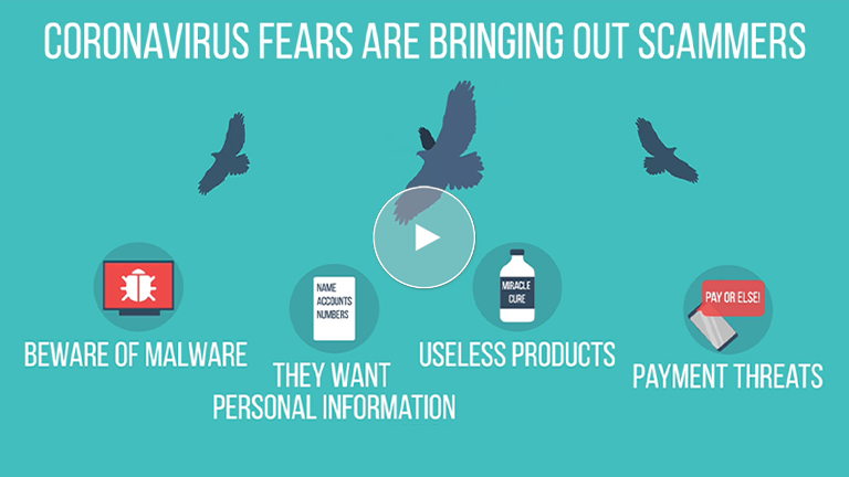 Coronavirus fears are bringing out scammers