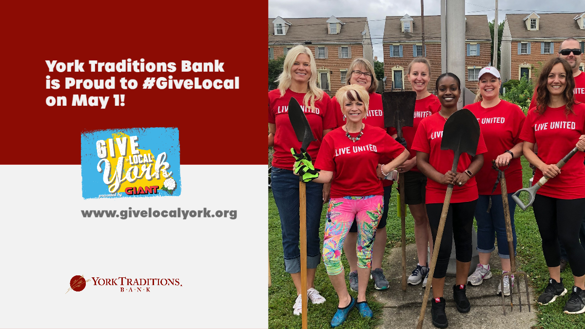 Graphic for Give Local York. York's biggest day of giving on May 1, 2020