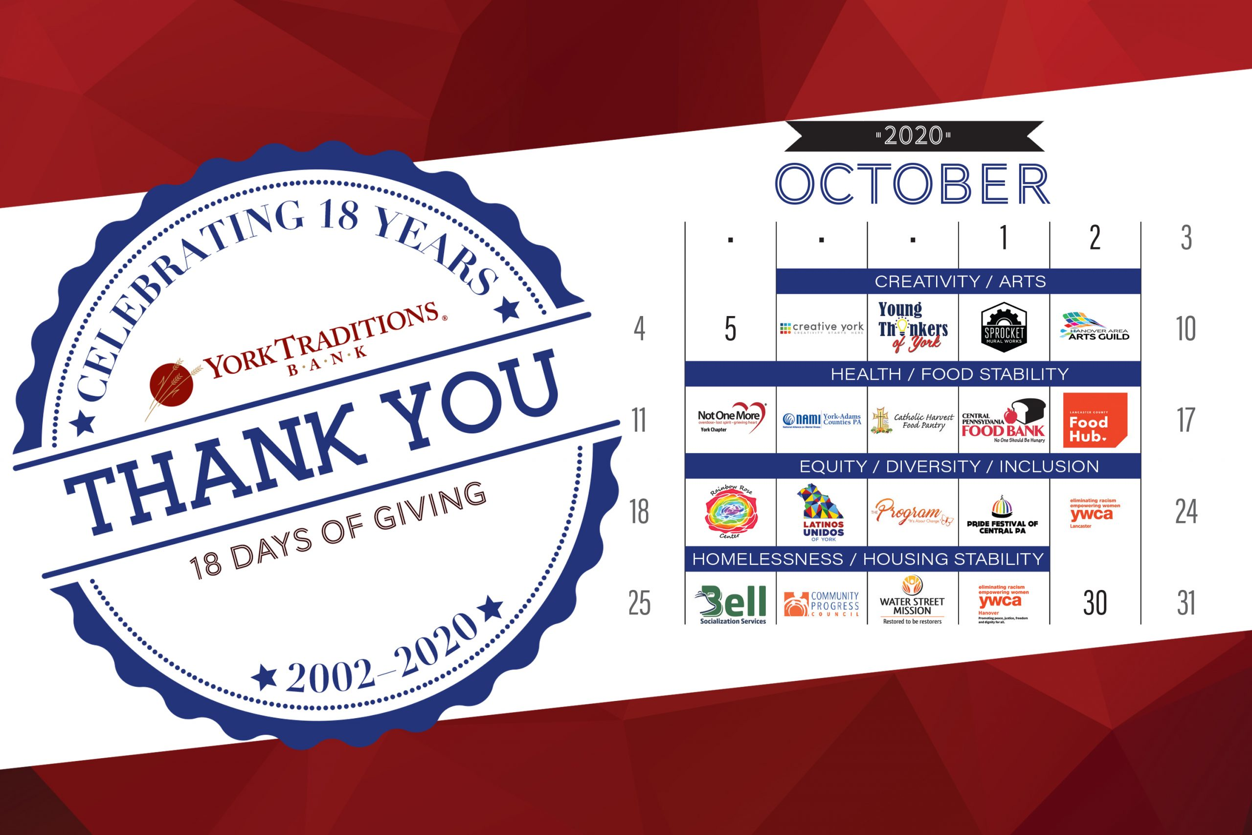 18 days of giving graphic