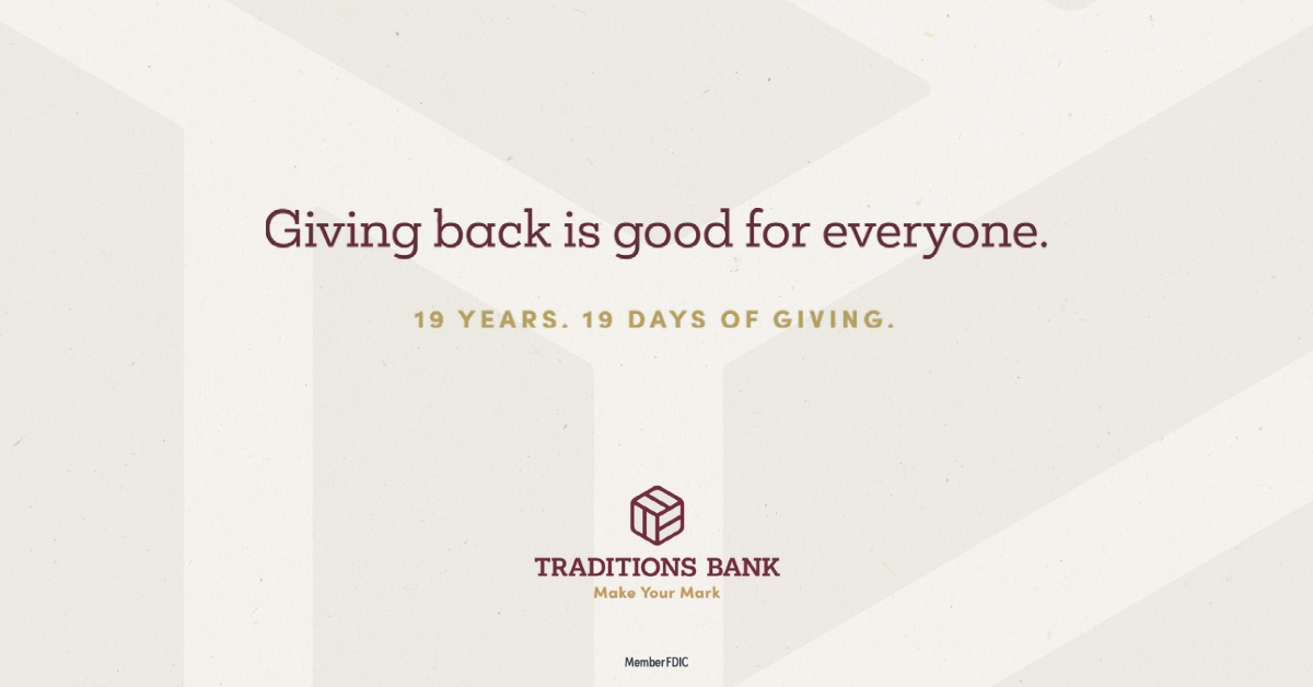 Join Us for 19 Days of Giving on Behalf of Our Customers